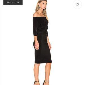 a1ef531ef99ea Norma Kamali Dresses - Norma Kamali off shoulder shirred dress size small